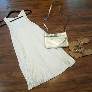 Alice + Olivia Cream and Gold Swing Dress